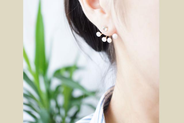 片耳】淡水真珠のピアスチャーム 〜Cerise
