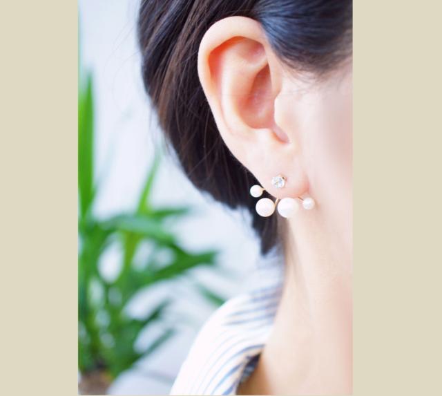 片耳】淡水真珠のピアスチャーム(ランダム) 〜avec toi