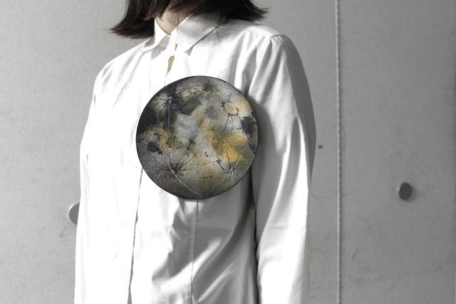 レザーブローチ【planet】L