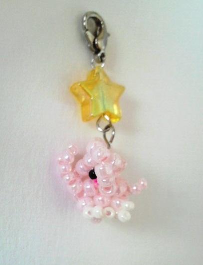 星とピンクのゾウのチャーム