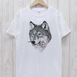 ronronWOLF Tee Here you go(ホワイト) / R027-T-WH