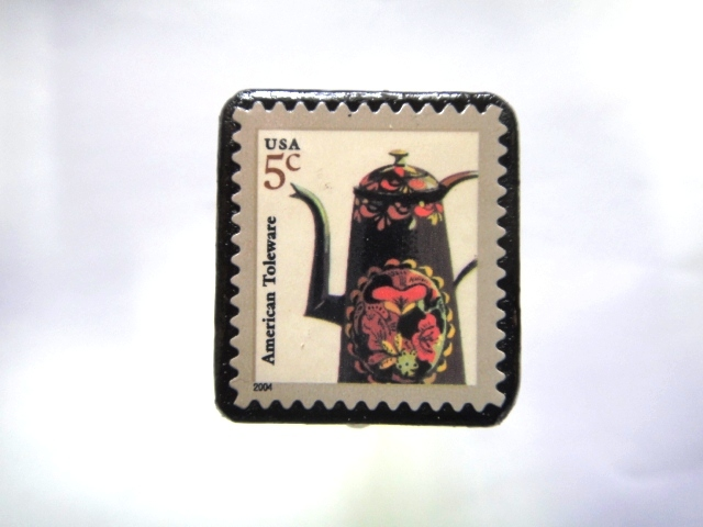 アメリカ ポット切手ブローチ999