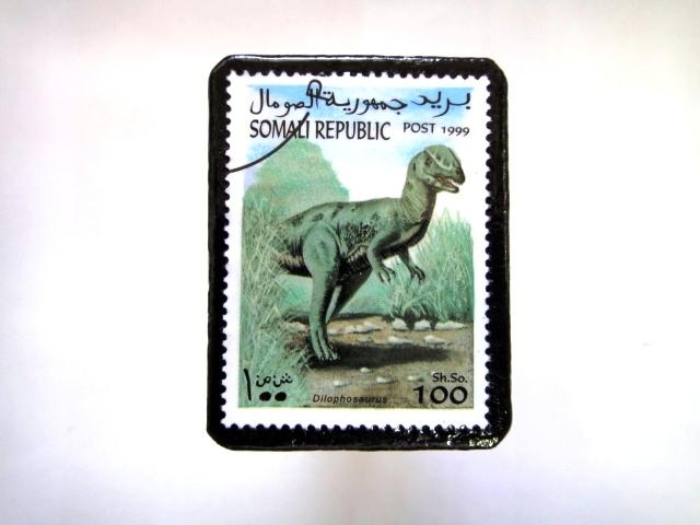 ソマリア 恐竜切手ブローチ 010