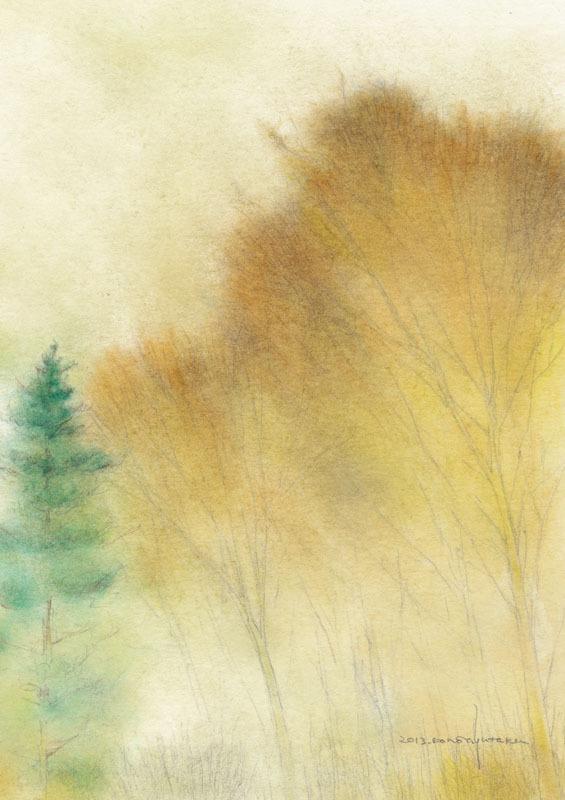 秋の森 (額縁付き)