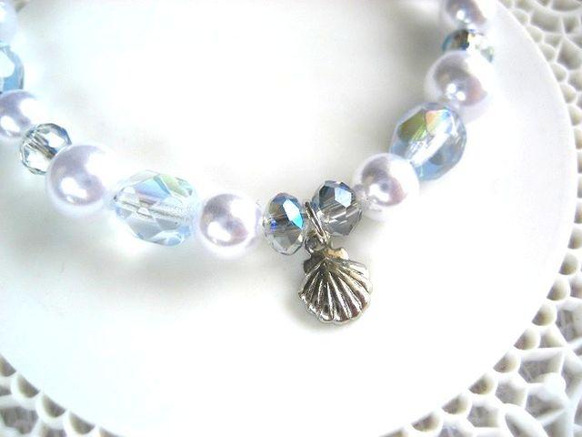 泡と貝殻のブレスレット_388