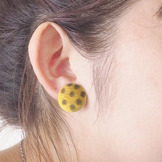 Boucle d'oreille du bouton(����ߥܥ�...