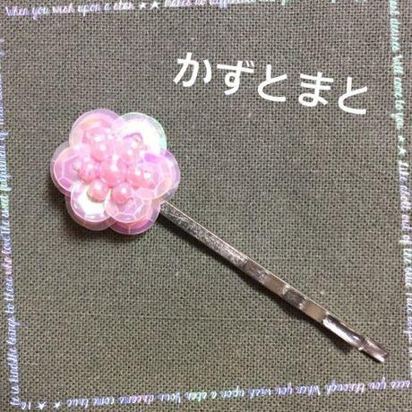 クリアランスセール★送料込*4-5,6,7,8*お花のヘアピン☆ピンク