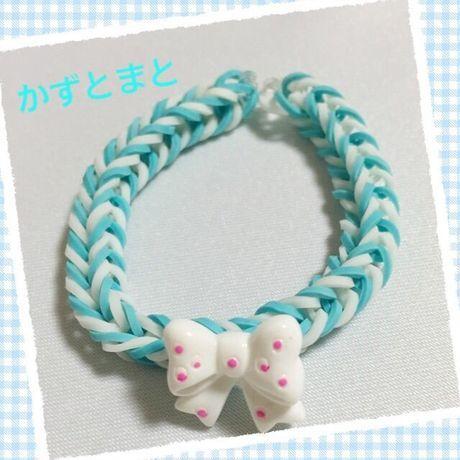 2−2*リボン付レインボールームブレスレット【送料込】