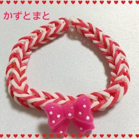 2−4*リボン付レインボールームブレスレット【送料込】