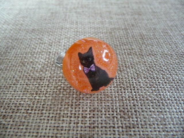 黒猫のリング 円