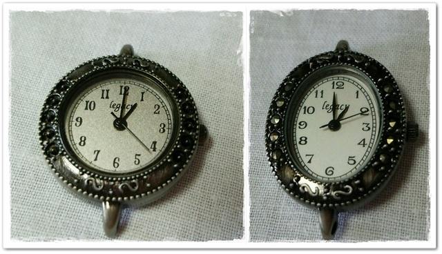 ☆送料無料☆懐中時計作りなどに デザイン時計パーツ 2個