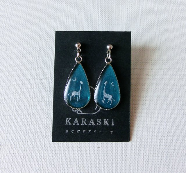 〈order〉雫ピアス/キリンと三日月