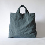 eighth note - tote (washed navy) 帆布のトートバッグ