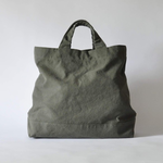 eighth note - tote (washed khaki) 帆布のトートバッグ