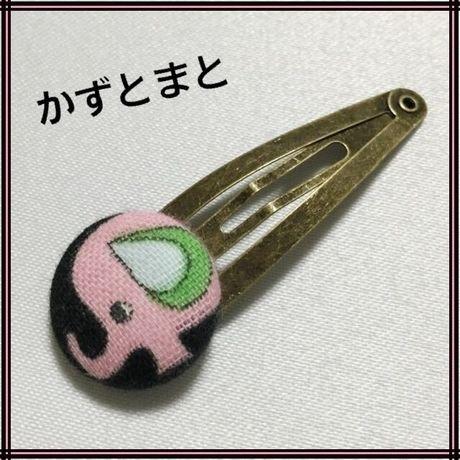 20-10【送料込】くるみボタンのパッチンピン