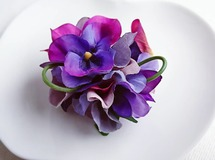pansy corsage
