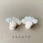 Spangle flower W ear cuff (NO.2363)