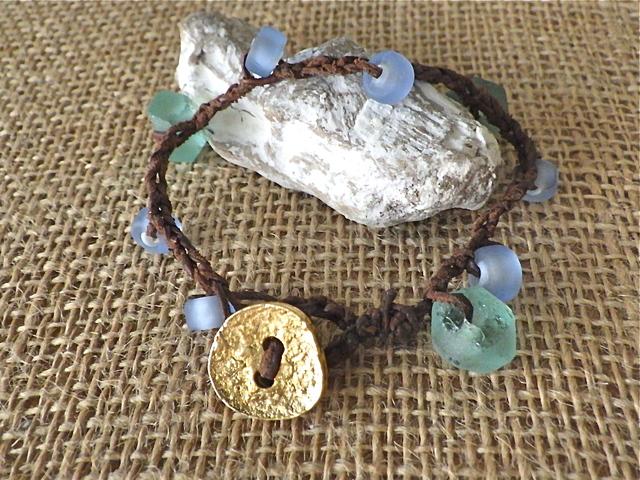 Beachy Boho Crocheted Bracelet