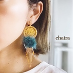 再販*新作♡circle×fur …yellow&antiqueblue