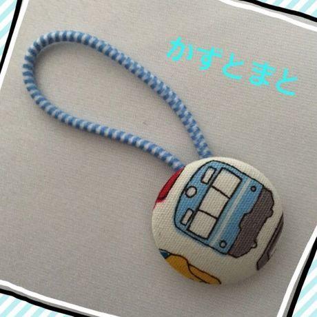 22-9 【送料込】くるみボタンのヘアゴム【送料込】