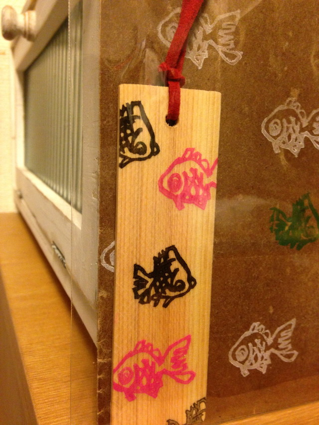 木の栞*金魚