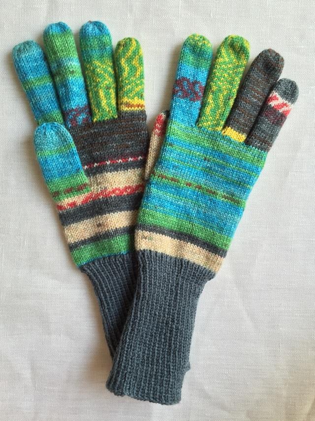 手編み5本指手袋 No.38【再販】