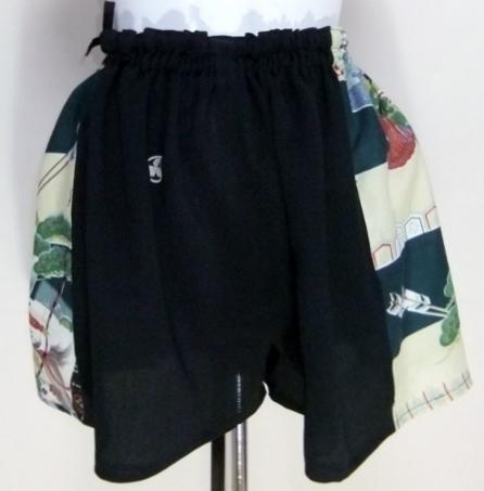 黒留袖と男の子の着物で作ったキュロットスカート 419