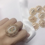 Nudy  flower ring