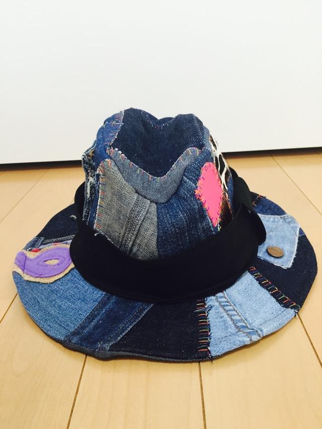 デニムの中折れ帽