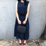 【MAXI DRESS】color:navy