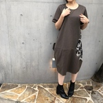 【CIRCLE DRESS】color:brown