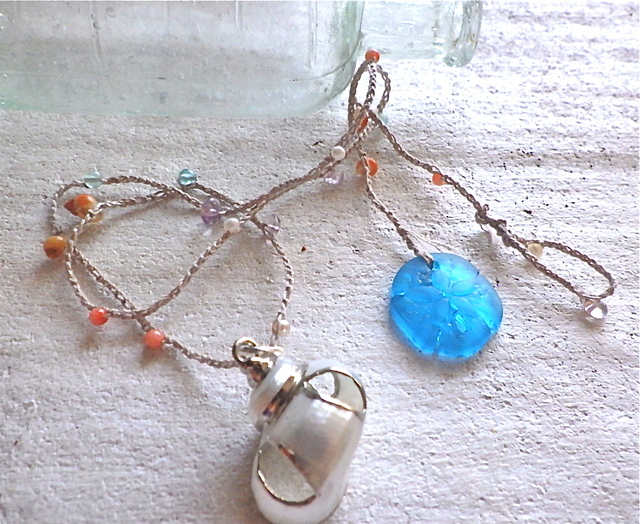 Sand Dollar Ocean Wrap Bracelet/Necklace--5way