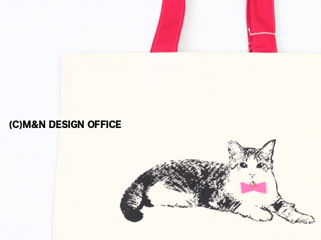 猫のイラストトートバッグ(M&Nオリジナル)