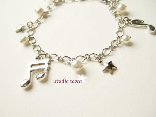 ミュージック! (音符チャームのブレスレット