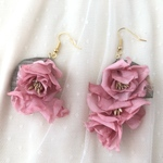 Silk Roses Earrings