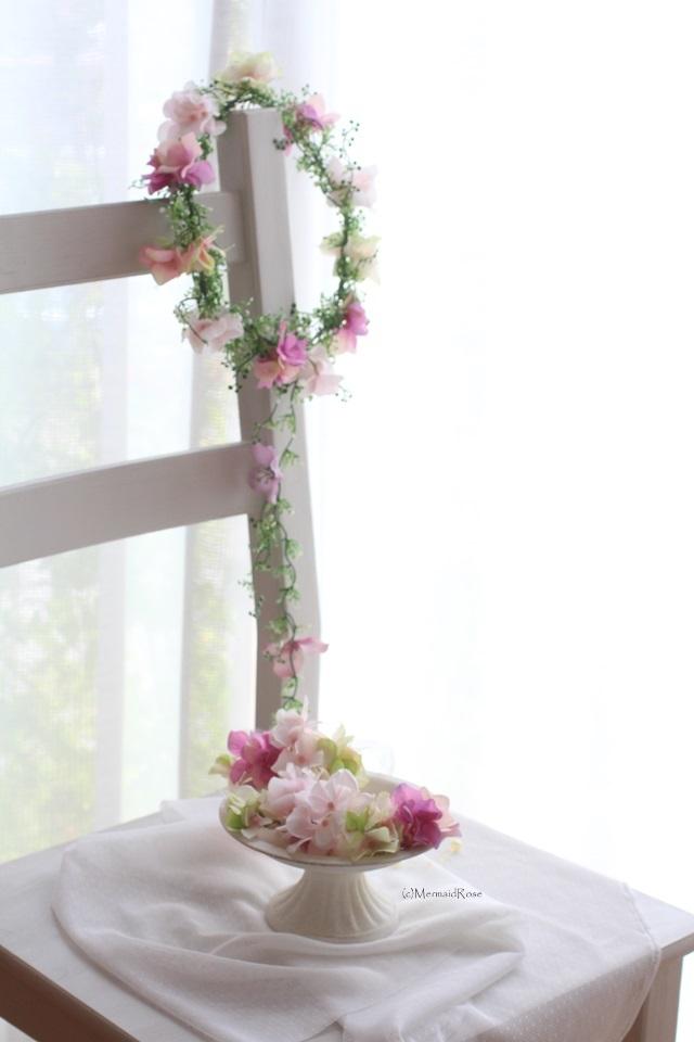 【humminghiro様専用オーダーフォーム】花冠アジサイピンクミックス*