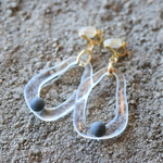 kawara pierce & earrings*- clear -