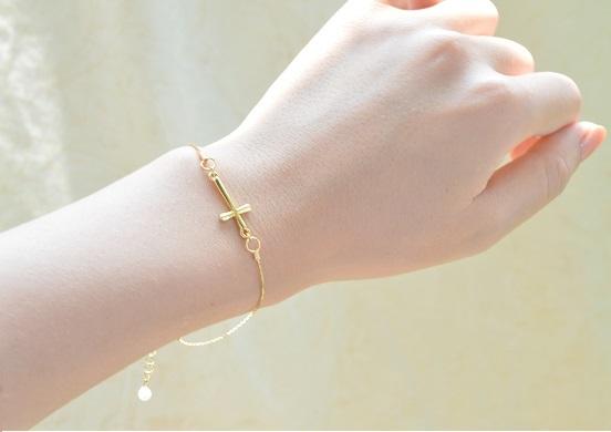 Slim Cross  Bracelet