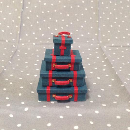 トランク4個セット*藍(ベルト赤)