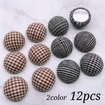 【cbtt3471】【2color 12pcs】Semicircle Glen Check Cabochon