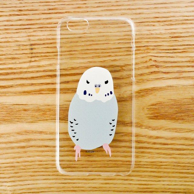 【iPhone6ケース】セキセイインコ青