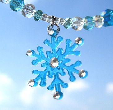 雪の結晶のネックレス_396 D