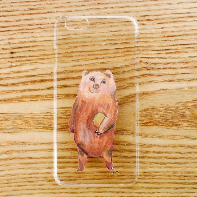 【iPhone6/6sケース】くまやし