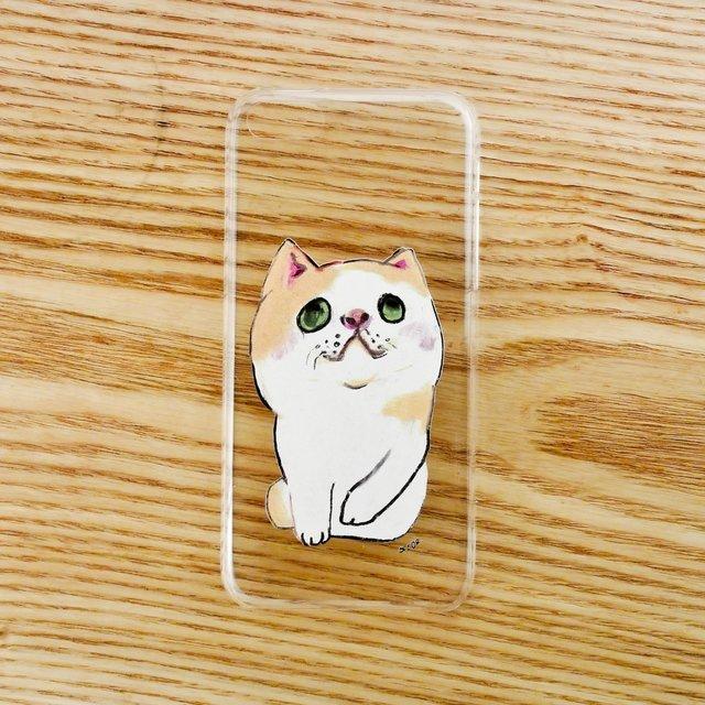 【iPhone5Cケース】へちゃねこ
