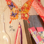 燐と蝶のかんざし (hair ornaments of Autumn leaves butterfly〜passion fire〜)