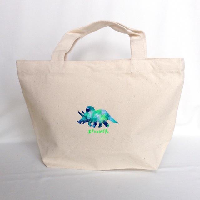 【完全受注制作】トリケラトプスグリーン トートバッグ