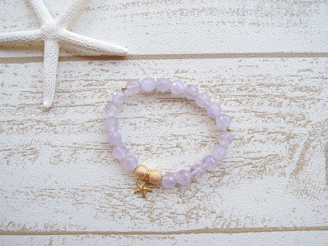 ☆SALE☆ Star Fish Lavender Amethyst ブレス