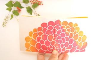100のこと「朝焼けに花開く」 型染め手帳