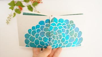 100のこと「海底に花開く」 型染め手帳