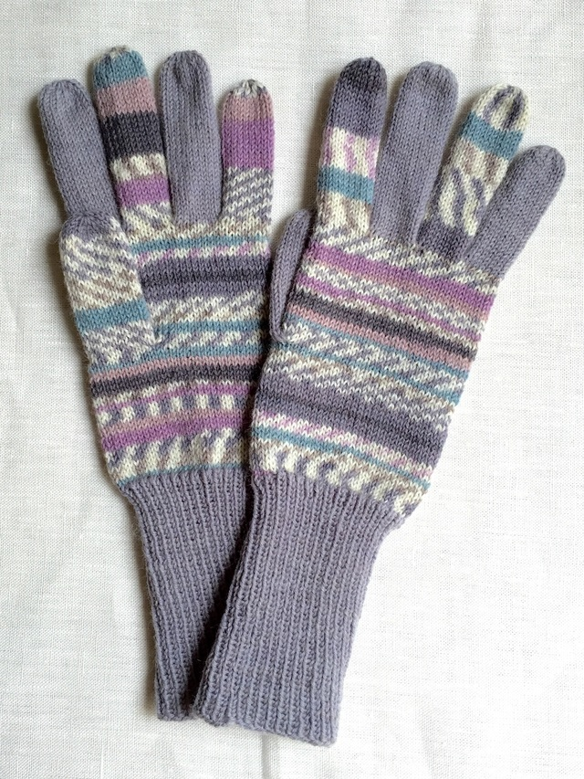 手編み5本指手袋 No.39